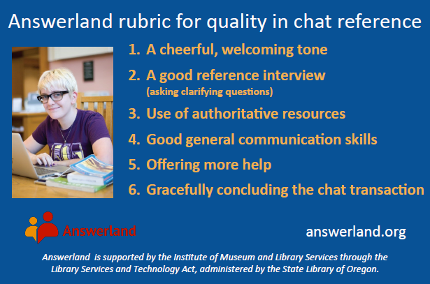 Chat rubric reference card
